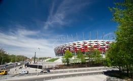 华沙- 4月29 :波兰的全国Stadiu建造场所  库存图片