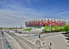 华沙- 4月29 :波兰的全国Stadiu建造场所  免版税库存照片