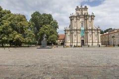 华沙- 7月09 :Visitandines的洛可可式的教会 免版税库存照片