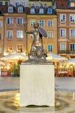 华沙 集市广场在老镇 免版税库存图片