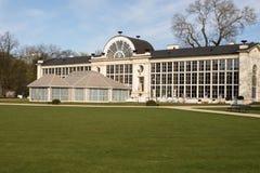 华沙 Lazienki皇家公园 老和新的橘园 免版税库存照片