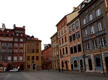 华沙` s老镇市场 免版税库存照片