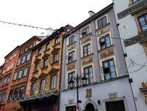 华沙` s老镇市场 免版税库存图片