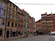 华沙` s老镇市场 库存照片