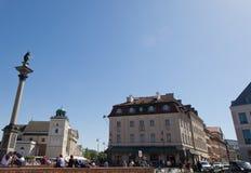华沙 Sigismund III ` s专栏 免版税图库摄影