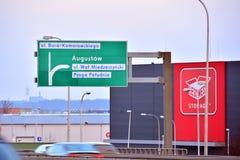 华沙Goclaw Siekierkowska路线的片段 图库摄影