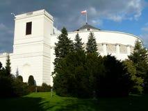 ??Sejm 议会大厦在华沙,波兰 免版税图库摄影