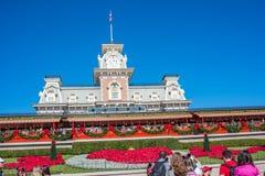 华特・迪士尼世界的不可思议的王国铁路办公室 免版税库存图片