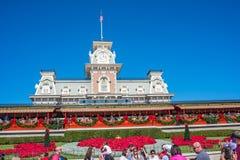 华特・迪士尼世界的不可思议的王国铁路办公室 免版税库存照片