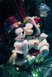华特・迪士尼圣诞树装饰 免版税库存图片