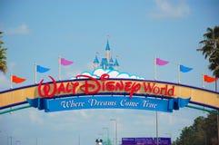华特・迪士尼世界入口 库存图片