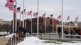 华盛顿下垂风蓝天纪念碑 股票视频