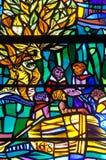 华盛顿全国大教堂-彩色玻璃 库存照片