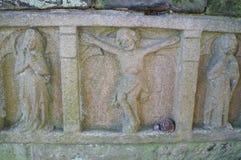 华盛顿全国大教堂-石雕刻 库存照片