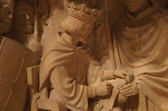 华盛顿全国大教堂-石雕刻 库存图片