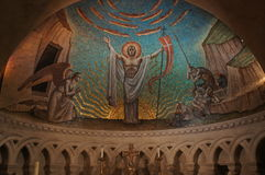 华盛顿全国大教堂-被绘的圆顶 库存照片