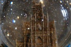 华盛顿全国大教堂-雪地球 免版税图库摄影