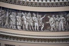 华盛顿国会大厦圆顶绘画 免版税图库摄影