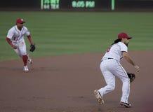 华盛顿国民的三垒手安东尼伦东 库存照片