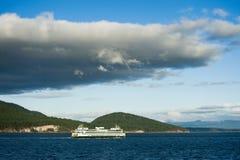 华盛顿州轮渡在圣胡安海岛 免版税库存图片