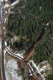 华盛顿森林泥流 库存照片