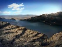 华盛顿河峡谷-数字式绘画 免版税库存照片
