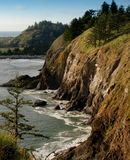 华盛顿沿海峭壁 免版税图库摄影