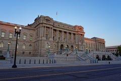 华盛顿特区国会图书馆大厦  免版税图库摄影
