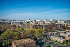 华盛顿特区屋顶视图 免版税库存图片