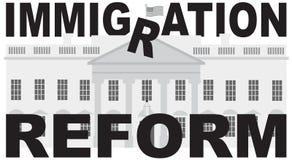 华盛顿特区白宫移民改革传染媒介 免版税库存图片