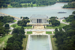 华盛顿特区的林肯纪念堂,美国 库存图片