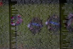 华盛顿特区的,特写镜头细节, desi越战纪念碑 免版税图库摄影