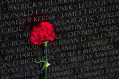 华盛顿特区的,特写镜头细节, desi越战纪念碑 免版税库存照片