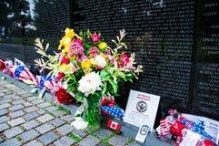 华盛顿特区的,美国越战纪念碑 免版税库存照片