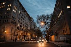 华盛顿特区街道和建筑学  免版税库存图片