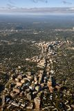 华盛顿特区郊区鸟瞰图 免版税库存照片
