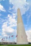 华盛顿特区,华盛顿纪念碑在春天 免版税库存图片