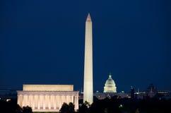华盛顿特区,美国-晚上场面 库存图片
