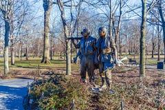 华盛顿特区,美国- 2006年1月27日:三位战士Fre 免版税图库摄影