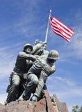 华盛顿特区,美国-硫磺岛雕象 库存照片