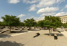 华盛顿特区, - 2018年6月01日:五角大楼纪念品以1为特色 库存照片