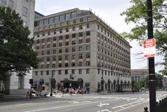 华盛顿特区, 2017年7月4日:从华盛顿哥伦比亚特区美国的历史建筑 免版税库存图片