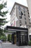 华盛顿特区, 2017年7月4日:从华盛顿哥伦比亚特区美国的旅馆入口 免版税库存图片