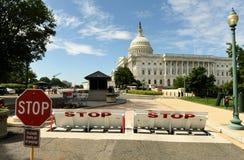 华盛顿特区, - 2018年6月01日:停机拦截网和中止签到 免版税库存照片
