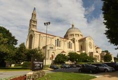华盛顿特区, - 2018年6月01日:全国寺庙的大教堂 库存照片