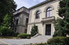 华盛顿特区, 2017年7月4日:历史建筑从华盛顿哥伦比亚特区美国的入口台阶 库存图片