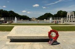华盛顿特区, - 2018年6月01日:在洗涤的二战纪念品 免版税库存图片