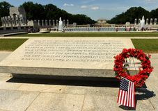 华盛顿特区, - 2018年6月01日:在洗涤的二战纪念品 免版税库存照片