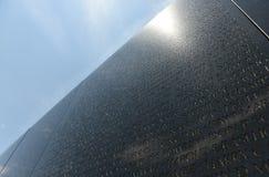 华盛顿特区, - 2018年6月01日:在洗涤的越战纪念品 库存照片