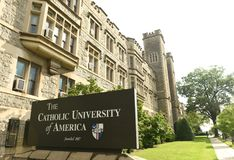 华盛顿特区, - 2018年6月01日:美国的天主教大学 免版税库存图片